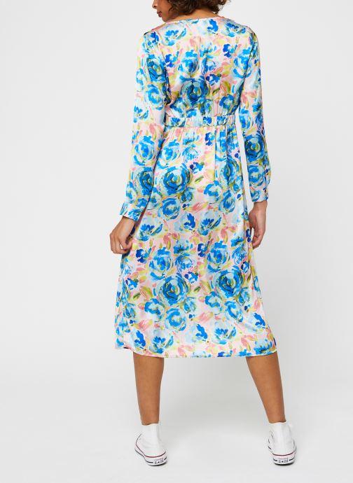 Vêtements Vila Viakvaralla L/S V-Neck Midi Dress Bleu vue portées chaussures