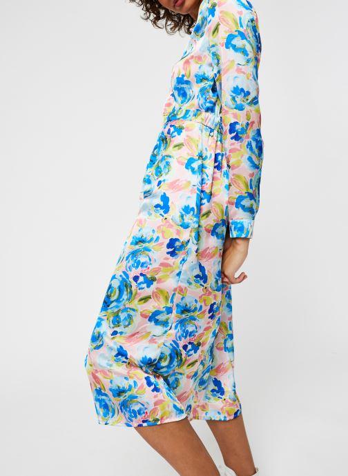 Vêtements Vila Viakvaralla L/S V-Neck Midi Dress Bleu vue droite