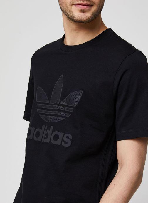 Vêtements adidas originals Sst50 Warmup Tee Noir vue face