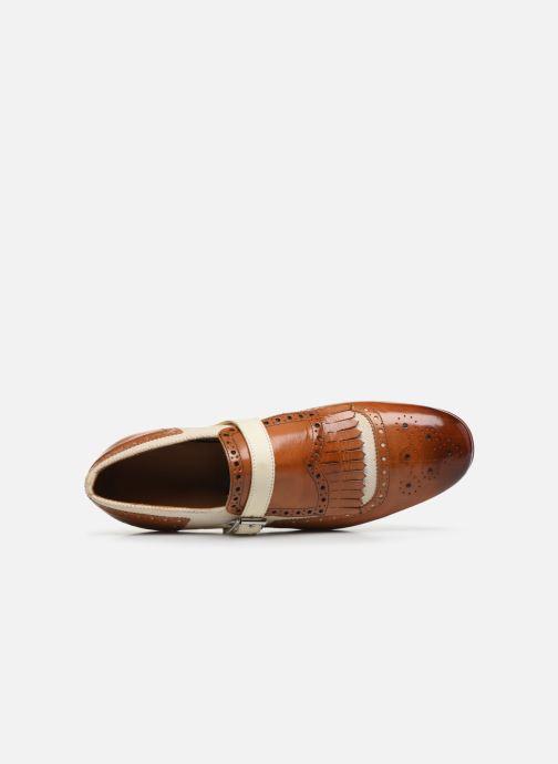 Schuhe mit Schnallen Melvin & Hamilton Clive 17 braun ansicht von links