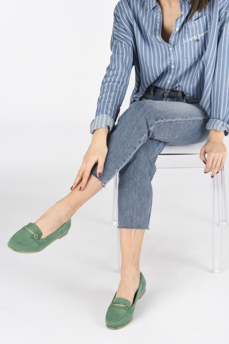 Loafers Damart Charlotte Green view from underneath / model view