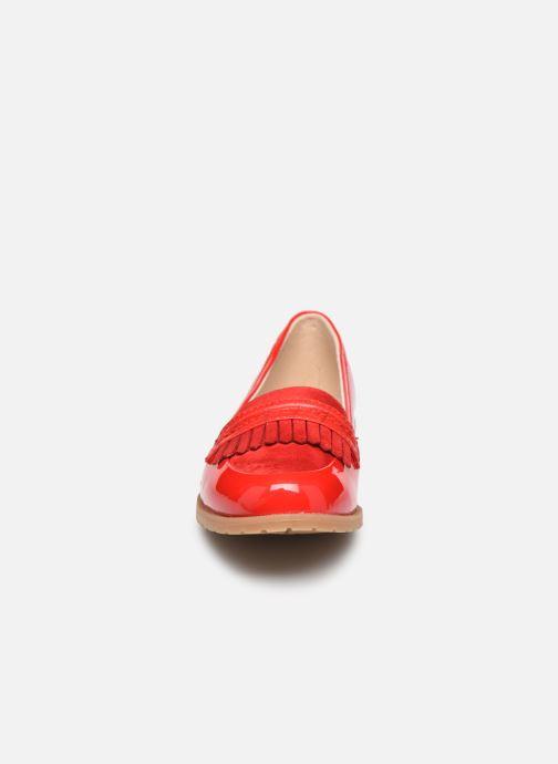 Mocassins Damart Adeline 2 Rouge vue portées chaussures