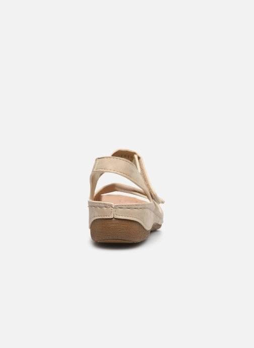 Sandals Damart Abbie / Piedical Beige view from the right