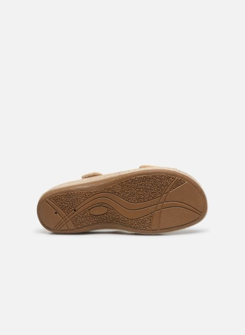 Sandals Damart Abbie / Piedical Beige view from above