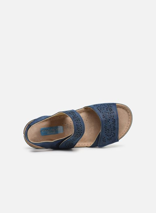Sandals Damart Abbie / Piedical Blue view from the left