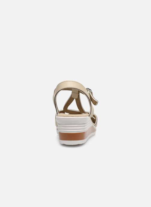 Sandals Damart Laura / Piedical Beige view from the right