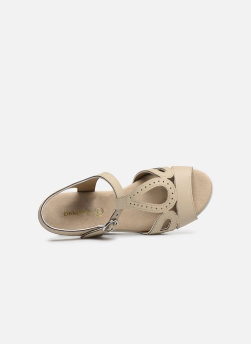 Sandals Damart Laura / Piedical Beige view from the left