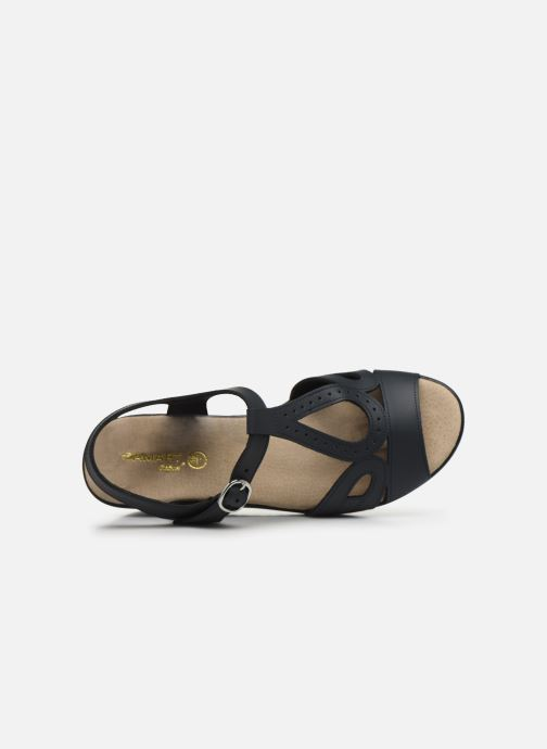Sandals Damart Laura / Piedical Blue view from the left