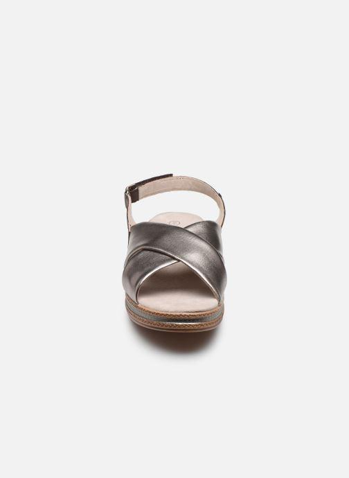Sandalen Damart Léa silber schuhe getragen