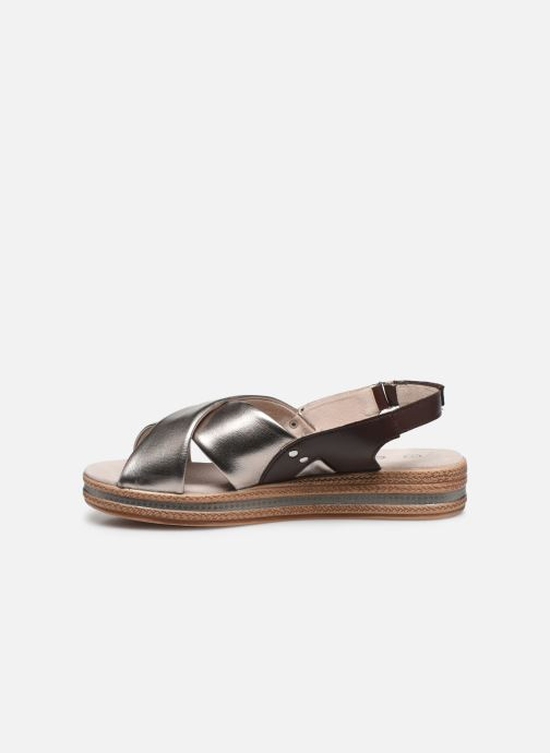 Sandalen Damart Léa silber ansicht von vorne