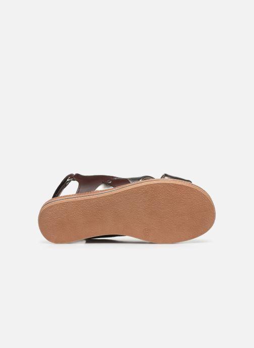 Sandalen Damart Léa silber ansicht von oben