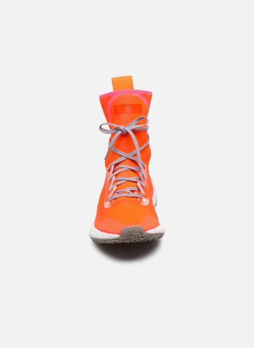 Sneaker adidas by Stella McCartney Pulseboost Hd Mid S. orange schuhe getragen