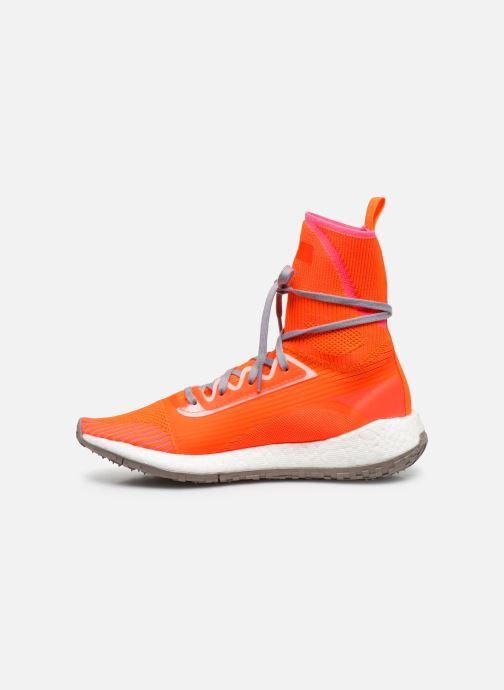 Sneaker adidas by Stella McCartney Pulseboost Hd Mid S. orange ansicht von vorne