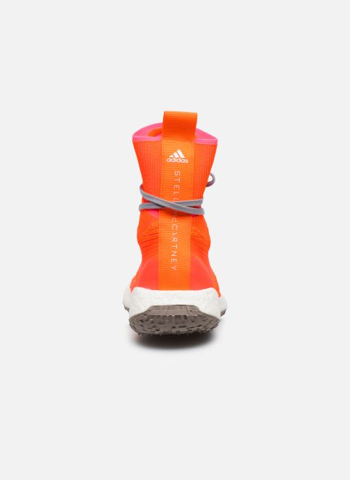 Baskets adidas by Stella McCartney Pulseboost Hd Mid S. Orange vue droite