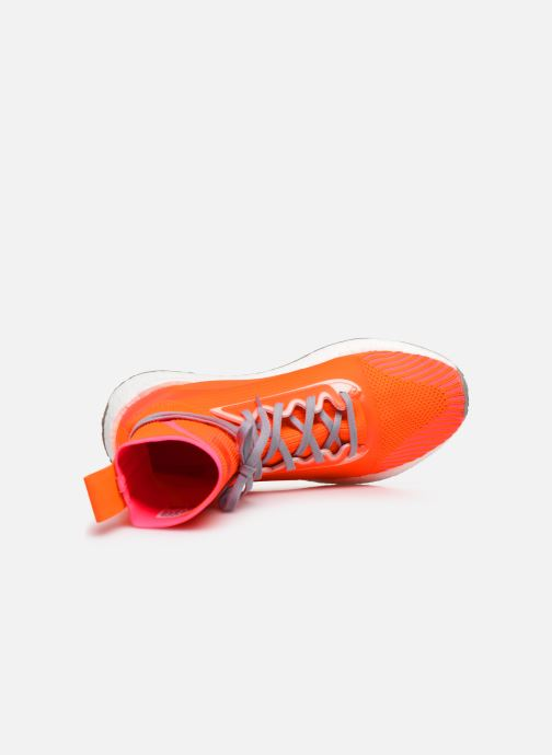 Baskets adidas by Stella McCartney Pulseboost Hd Mid S. Orange vue gauche