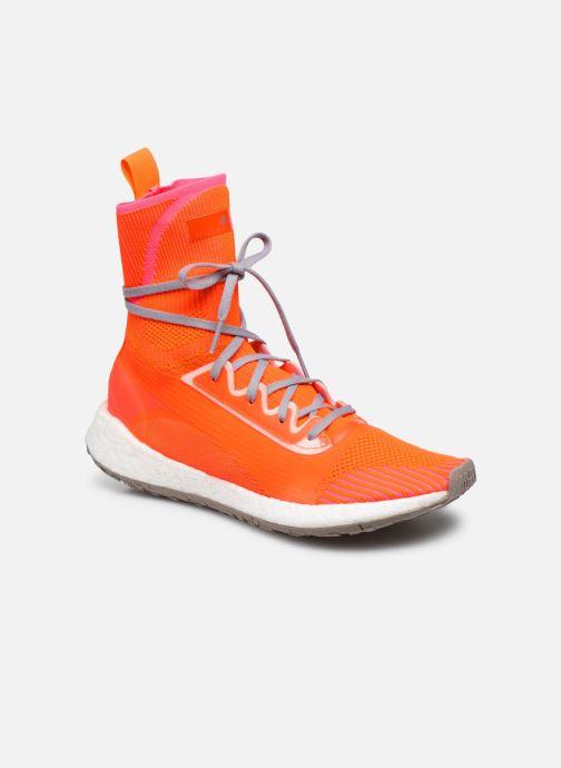 Sneakers adidas by Stella McCartney Pulseboost Hd Mid S. Orange detaljeret billede af skoene