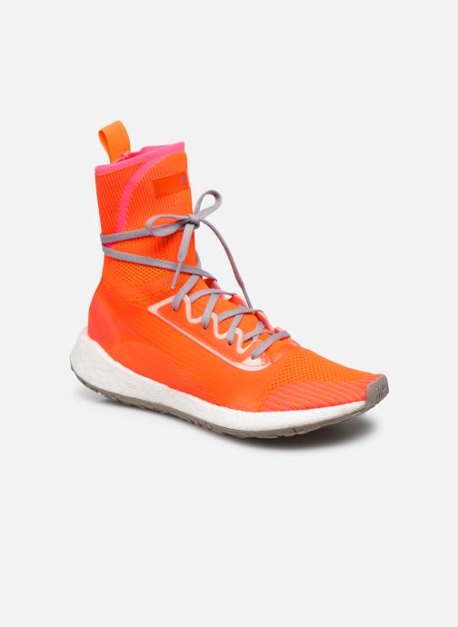 Baskets adidas by Stella McCartney Pulseboost Hd Mid S. Orange vue détail/paire