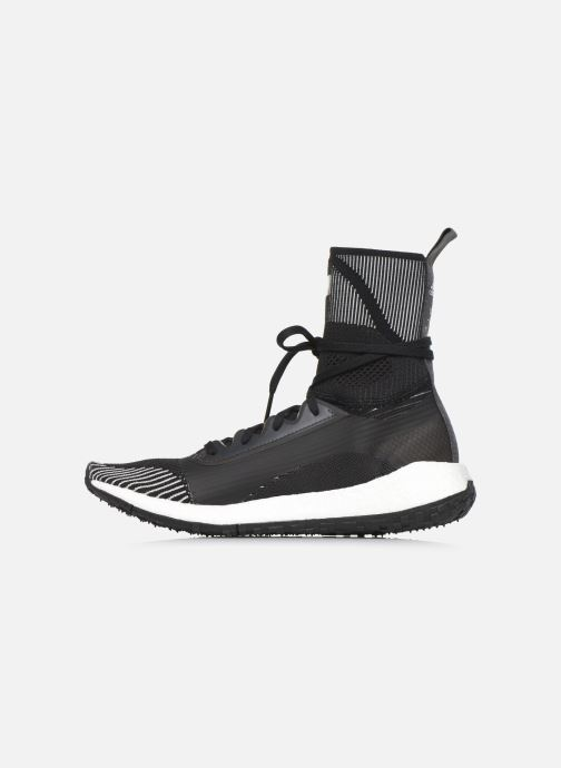 Baskets adidas by Stella McCartney Pulseboost Hd Mid S. Noir vue face