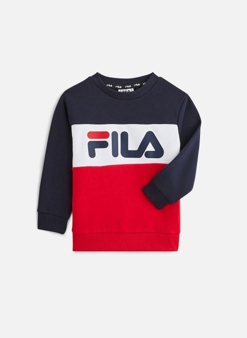 Vêtements FILA Night Blocked Crew Shirt 688093 Rouge vue détail/paire