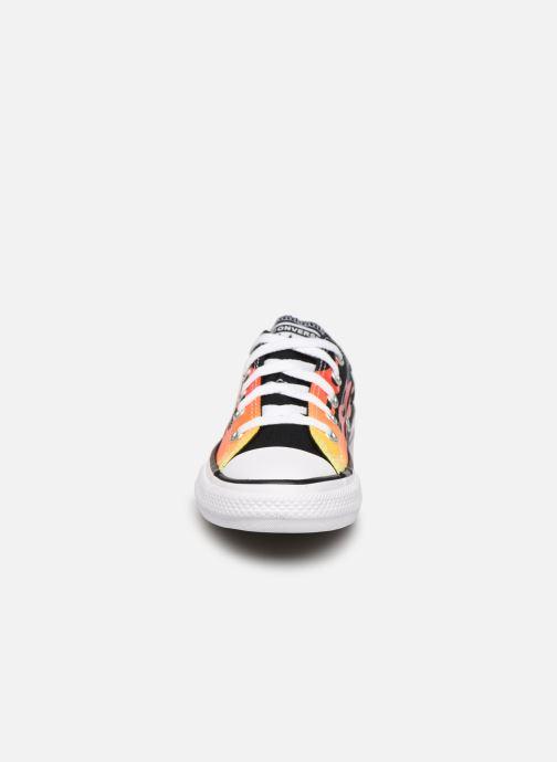 Baskets Converse Chuck Taylor All Star Archive Flames Ox Noir vue portées chaussures
