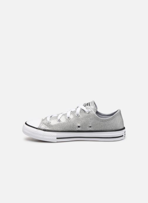 Baskets Converse Chuck Taylor All Star Coated Glitter Ox Argent vue face