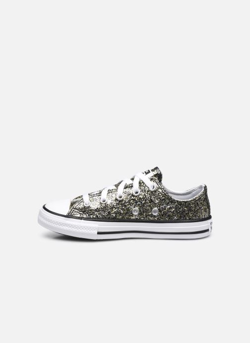 Sneakers Converse Chuck Taylor All Star Coated Glitter Ox Oro e bronzo immagine frontale