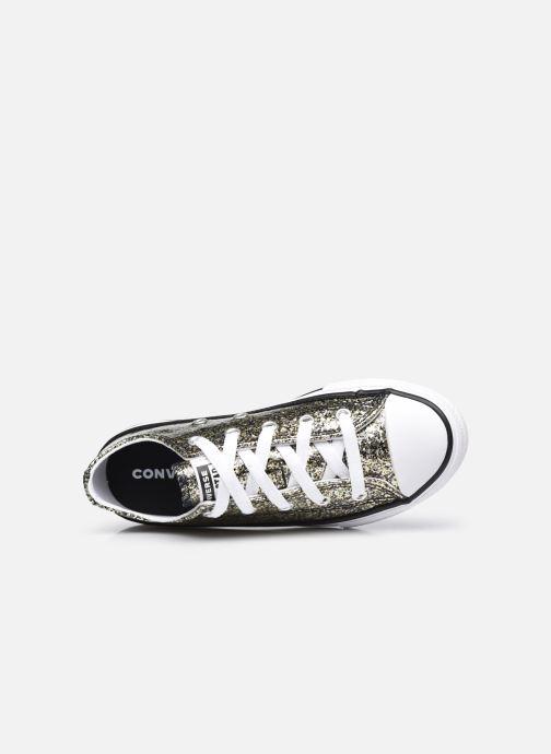 Sneakers Converse Chuck Taylor All Star Coated Glitter Ox Oro e bronzo immagine sinistra