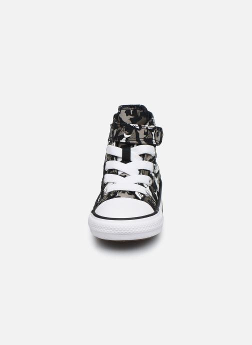 Baskets Converse Chuck Taylor All Star 1V Shark Bite Hi Noir vue portées chaussures