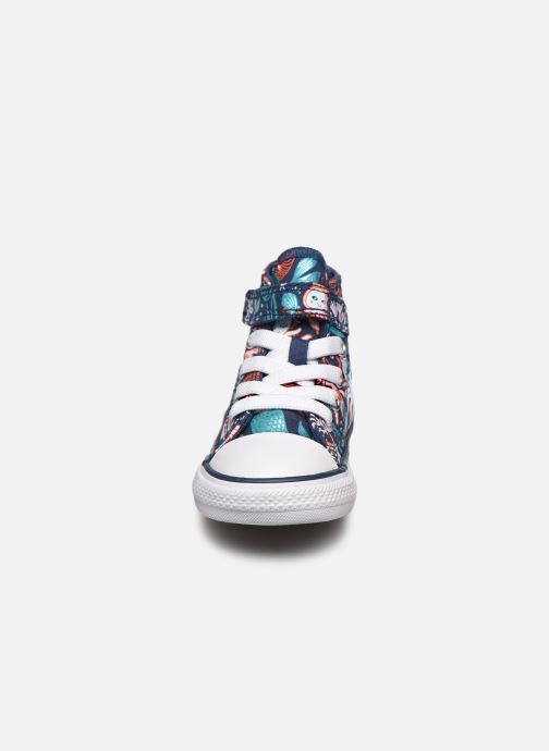 Baskets Converse Chuck Taylor All Star 1V Underwater Party Hi Bleu vue portées chaussures