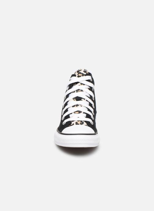 Baskets Converse Chuck Taylor All Star Archive Cheetah Hi Noir vue portées chaussures