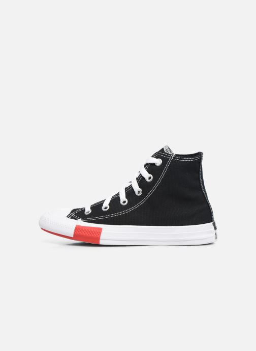 Baskets Converse Chuck Taylor All Star Logo Play Hi Noir vue face