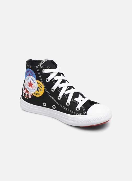 Baskets Converse Chuck Taylor All Star Logo Play Hi Noir vue détail/paire