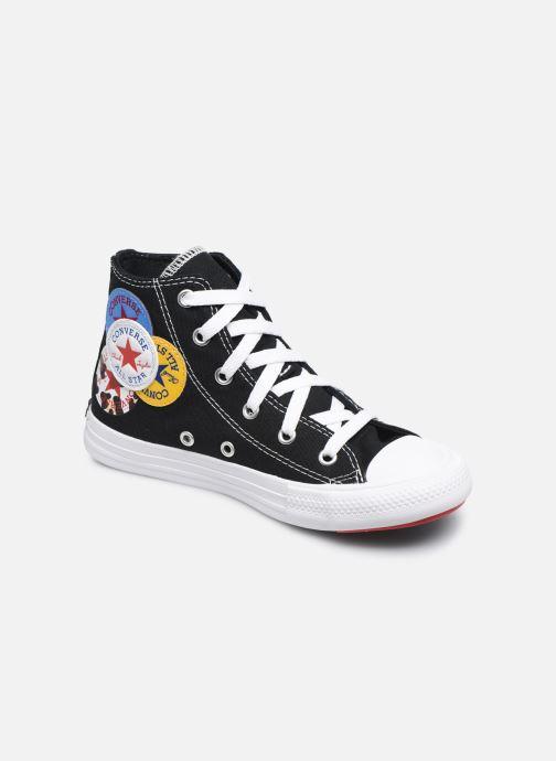 Baskets Converse Chuck Taylor All Star Logo Play Hi Noir vue détail/paire