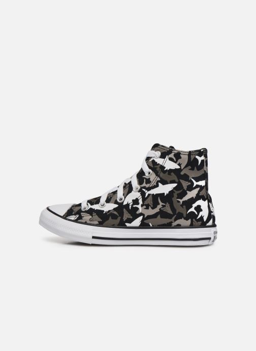 Trainers Converse Chuck Taylor All Star Shark Bite Hi Black front view