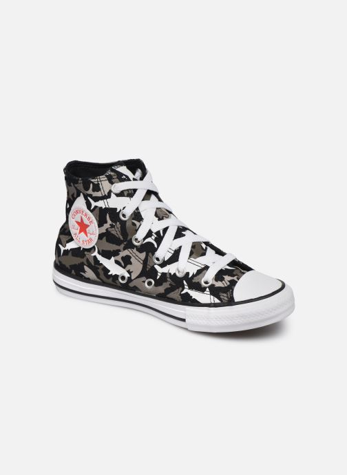 Baskets Converse Chuck Taylor All Star Shark Bite Hi Noir vue détail/paire