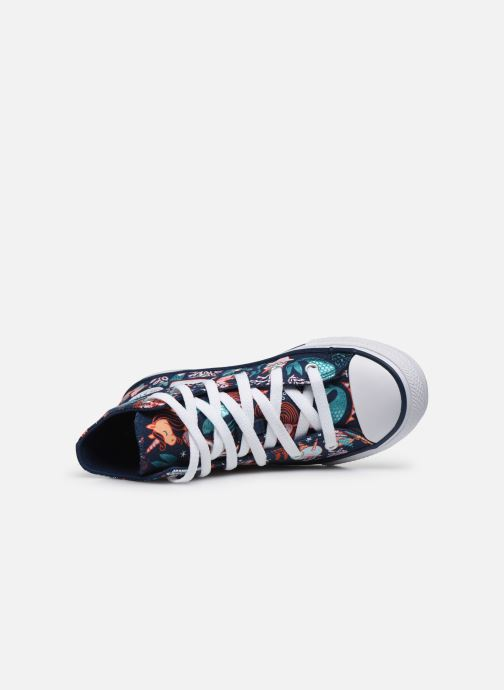 Sneaker Converse Chuck Taylor All Star Underwater Party Hi blau ansicht von links
