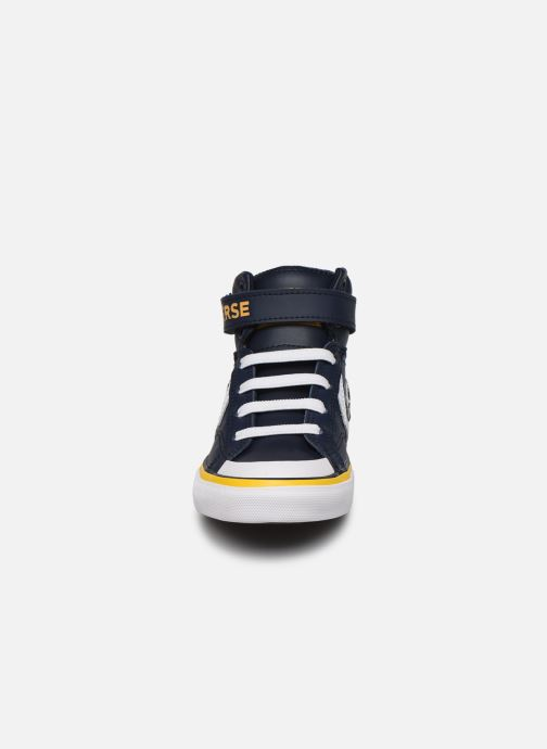 Sneakers Converse Pro Blaze Strap Twisted Leather Hi J Blå se skoene på