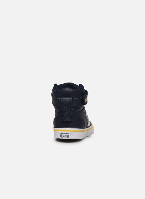 Sneakers Converse Pro Blaze Strap Twisted Leather Hi J Blå Se fra højre