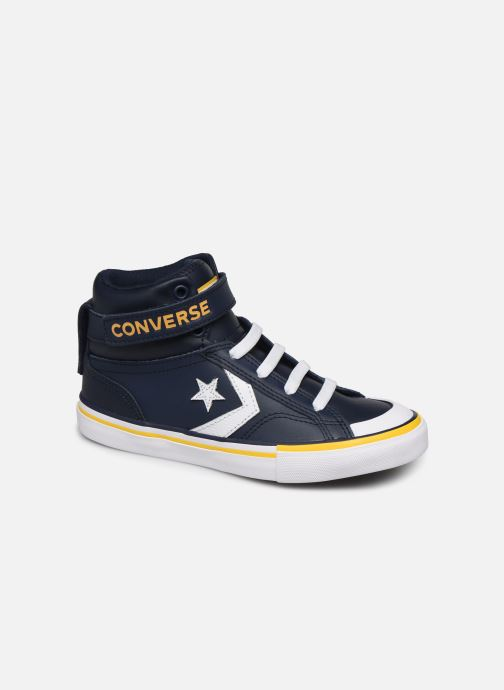 Sneakers Converse Pro Blaze Strap Twisted Leather Hi J Blå detaljeret billede af skoene