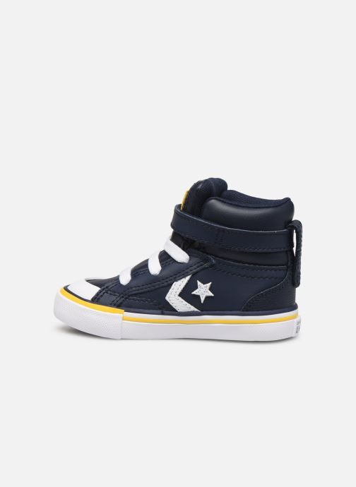 Trainers Converse Pro Blaze Strap Twisted Leather Hi E Blue front view