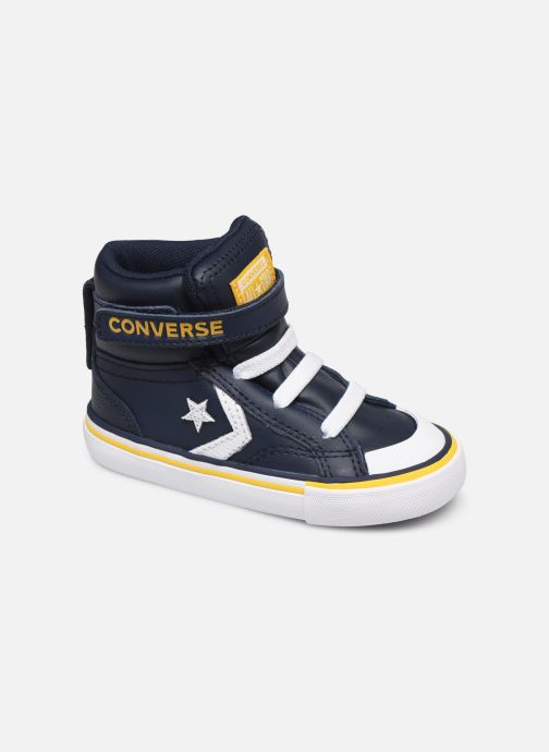 Trainers Converse Pro Blaze Strap Twisted Leather Hi E Blue detailed view/ Pair view