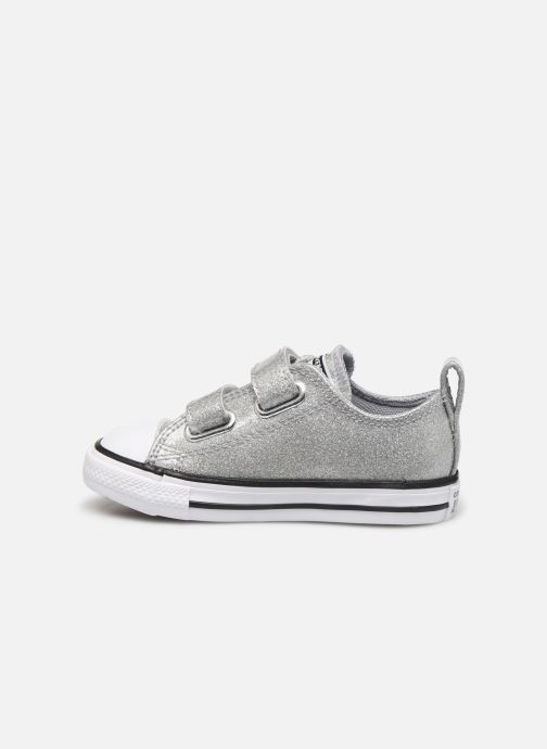 Trainers Converse Chuck Taylor All Star 2V Coated Glitter Ox Silver front view