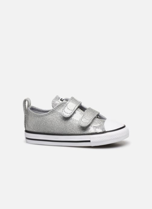 Trainers Converse Chuck Taylor All Star 2V Coated Glitter Ox Silver back view
