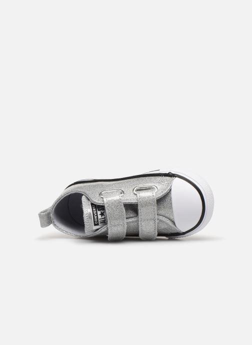 Sneakers Converse Chuck Taylor All Star 2V Coated Glitter Ox Sølv se fra venstre