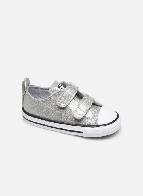 Trainers Converse Chuck Taylor All Star 2V Coated Glitter Ox Silver detailed view/ Pair view