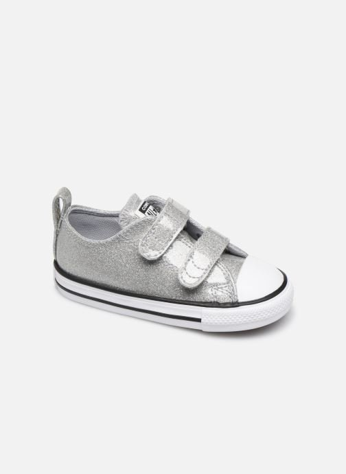 Baskets Converse Chuck Taylor All Star 2V Coated Glitter Ox Argent vue détail/paire