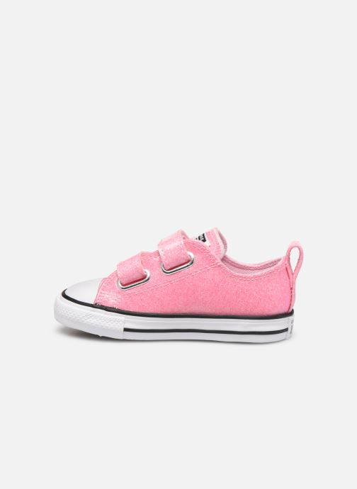 Baskets Converse Chuck Taylor All Star 2V Coated Glitter Ox Rose vue face