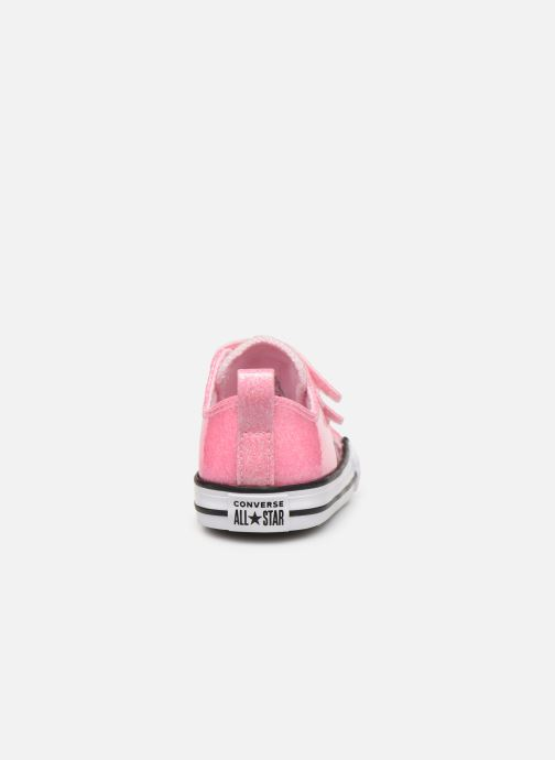 Trainers Converse Chuck Taylor All Star 2V Coated Glitter Ox Pink view from the right