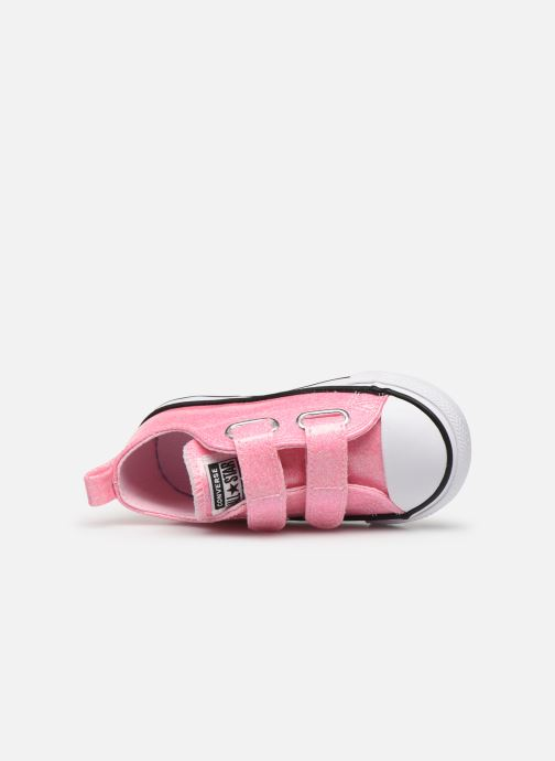 Sneakers Converse Chuck Taylor All Star 2V Coated Glitter Ox Pink se fra venstre