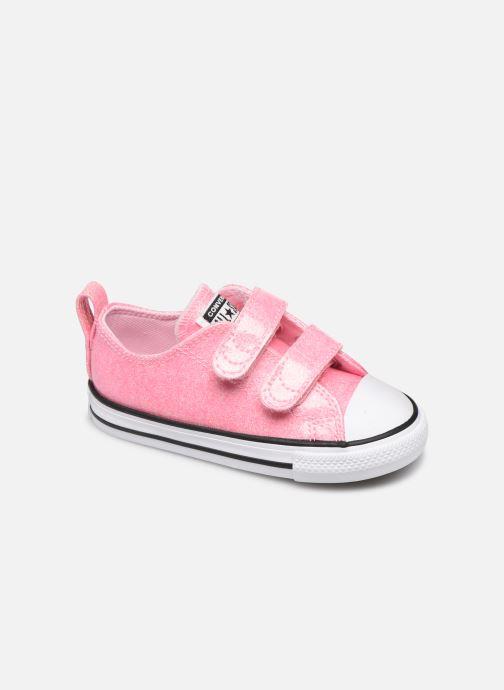 Sneakers Converse Chuck Taylor All Star 2V Coated Glitter Ox Pink detaljeret billede af skoene